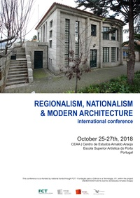 REGIONALISM, NATIONALISM & MODERN ARCHITECTURE. CALL FOR PAPERS