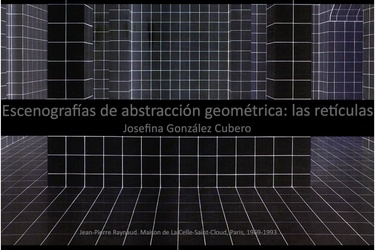 Geometric abstraction scenographies: reticles